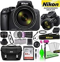 $654 » Nikon COOLPIX P900 16MP 83x Optical Zoom Digital Camera (26499) USA Model Deluxe Bundle -Includes- Sandisk 64GB SD Card + Nikon Gadget Bag + Filter Kit + Spare Battery + Telephoto Lens + More