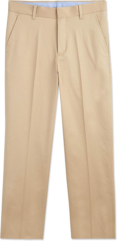 Tommy Hilfiger Boys' Flat Front Twill Dress Pant