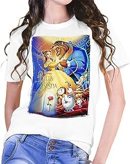 Camiseta Mujer Cine La Bella y La Bestia