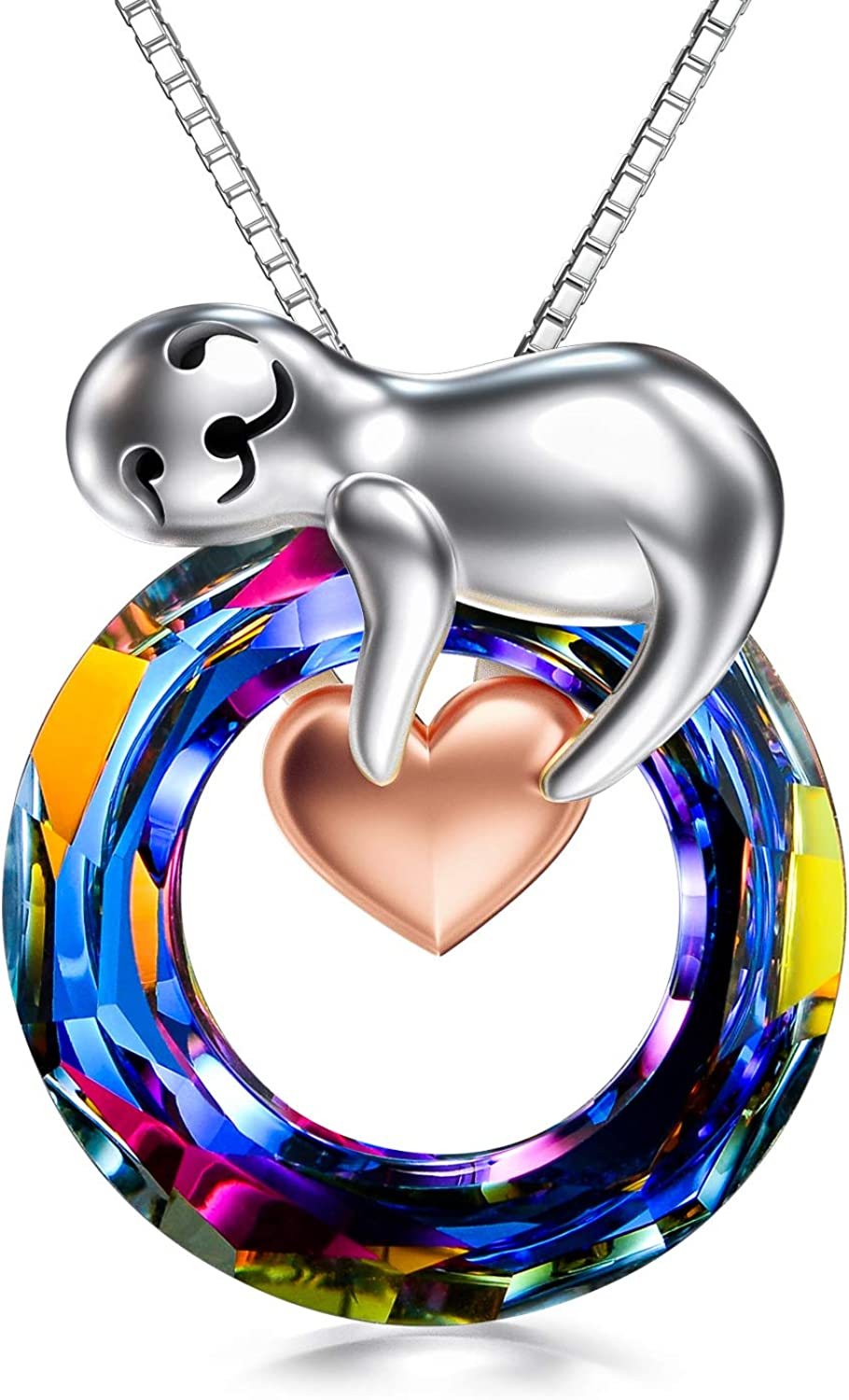 TOUPOP Sale special price Sloth Gifts for Women Pendant Silver Sterling s925 service