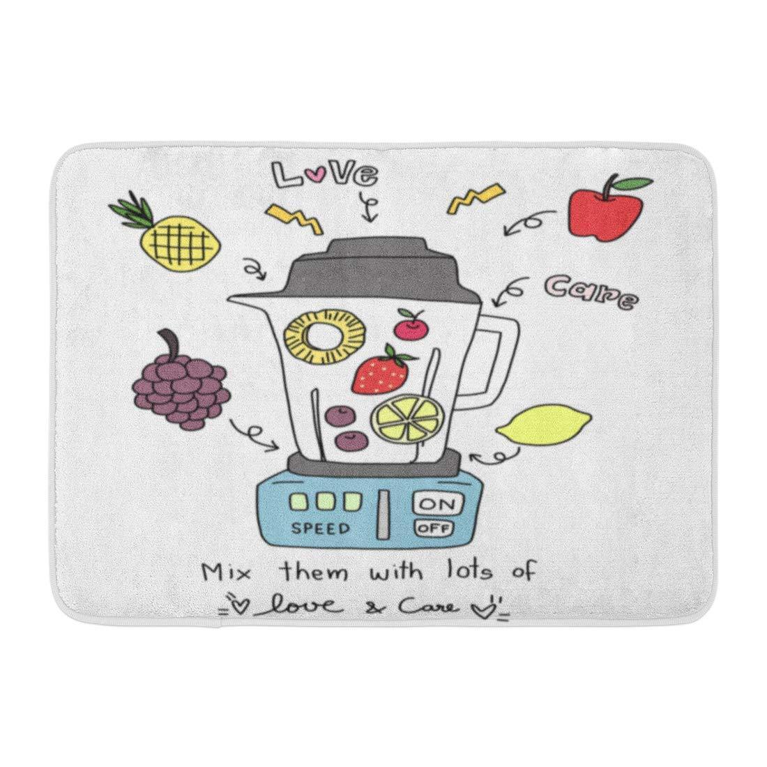 Kanaite Alfombrilla de baño Love Your Life Licuadora Frutas ...