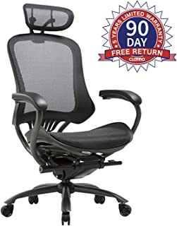 Ergonomic High Mesh Swivel Executive Chair with Adjustable Height Head Arm Rest and Lumbar Support Back for Home Office
