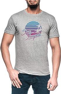 San Junípero Hombre Gris Camiseta Manga Corta Men's Grey T-Shirt