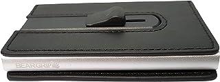 BEAR GRIP - Credit Card Holder RFID Blocking Slim Wallet, Automatic Pop-up Card Case Wallet (Black Leather)