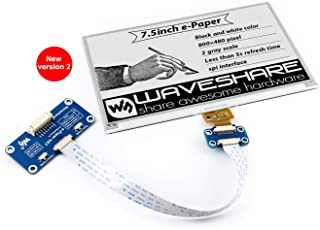 Waveshare 7.5inch E-Ink Display Hat for Raspberry Pi 800×480 Resolution with Embedded Controller Communicating Via SPI Interface Supports Raspberry Pi Series Boards and Jetson Nano