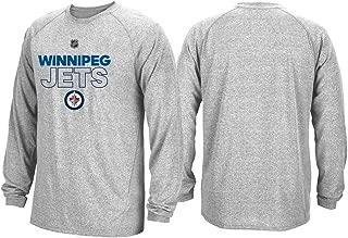 adidas Winnipeg Jets NHL Mens Grey Climalite Long Sleeve Authentic Ice T-Shirt