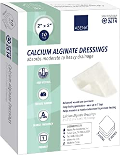 "Abena Calcium Alginate Dressing, Sterile, 2""x 2"", 10Count"