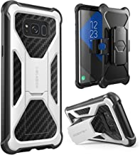 i-Blason Transformer Series Case for Galaxy S8+ Plus, [Kickstand] [Heavy Duty] [Dual Layer] Holster Cover with [Locking Belt Clip] for Samsung Galaxy S8+ Plus 2017 Release (White)