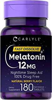 Carlyle Melatonin 12 mg Fast Dissolve 180 Tablets