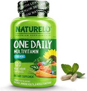 NATURELO One Daily Multivitamin for Men - with Whole Food Vitamins, Organic Extracts - Natural Supplement - Best for Energ...