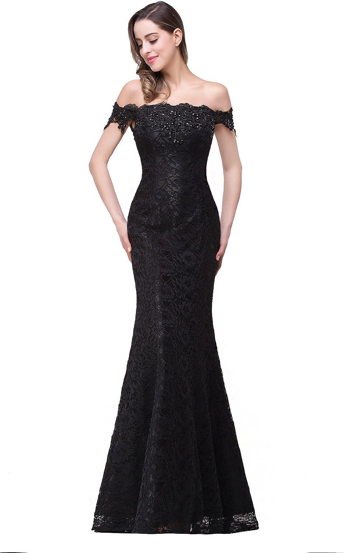 Babyonline Off Shoulder Lace Long Washington Mall Bridesmaid for Prom Dress Max 79% OFF Maxi