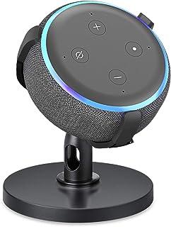 Soporte de mesa para Echo Dot de 3ª generación, soporte ajustable de 360 °, accesorios de punto que ahorra espacio, sin so...
