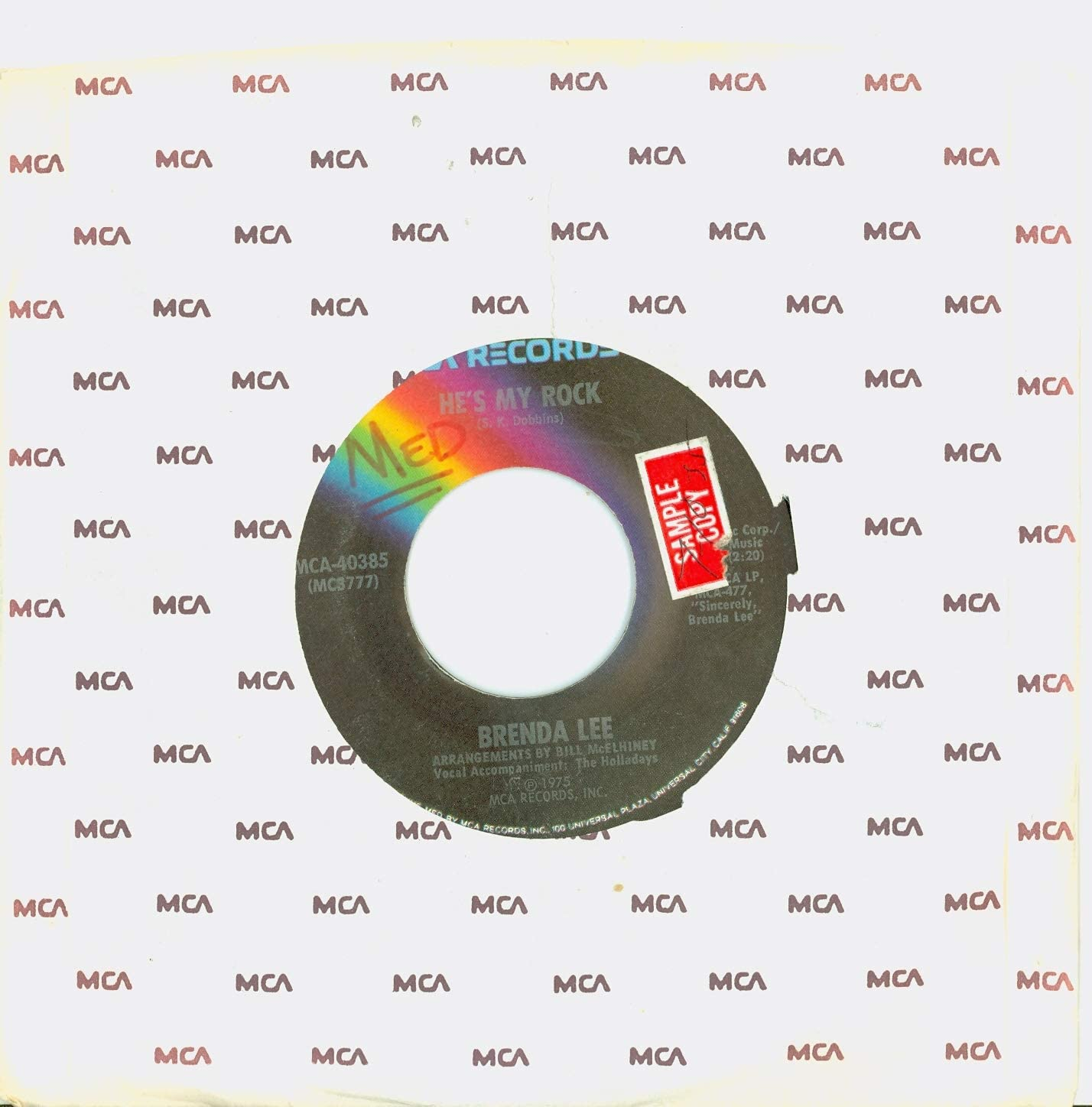 He's My Rock Las Vegas Mall Feel Free - Brenda Excelle Super popular specialty store 1975 Records MCA Lee