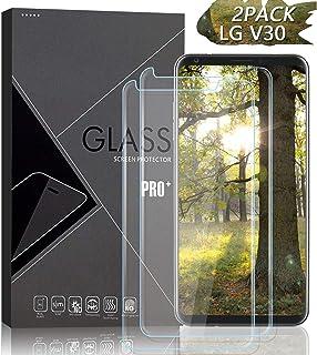 JKPNK LG V30 Screen Protector [2 Pack], Tempered Glass Screen Protector[Anti-Glare] Full Coverage HD Anti-Scratch [Bubble-Free] Screen Protector for LG V30/V30 Plus