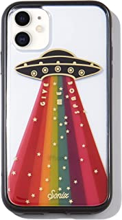 Sonix Give Me Space Case for iPhone 11 [Military Drop Test Certified] Protective Rainbow UFO Spaceship Clear Case for Apple iPhone XR, iPhone 11
