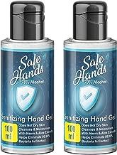 Bella Vita Organic SafeHands Hand Sanitizer Travel 2 Pack X 100 ml With Neem & Aloe Vera Extracts