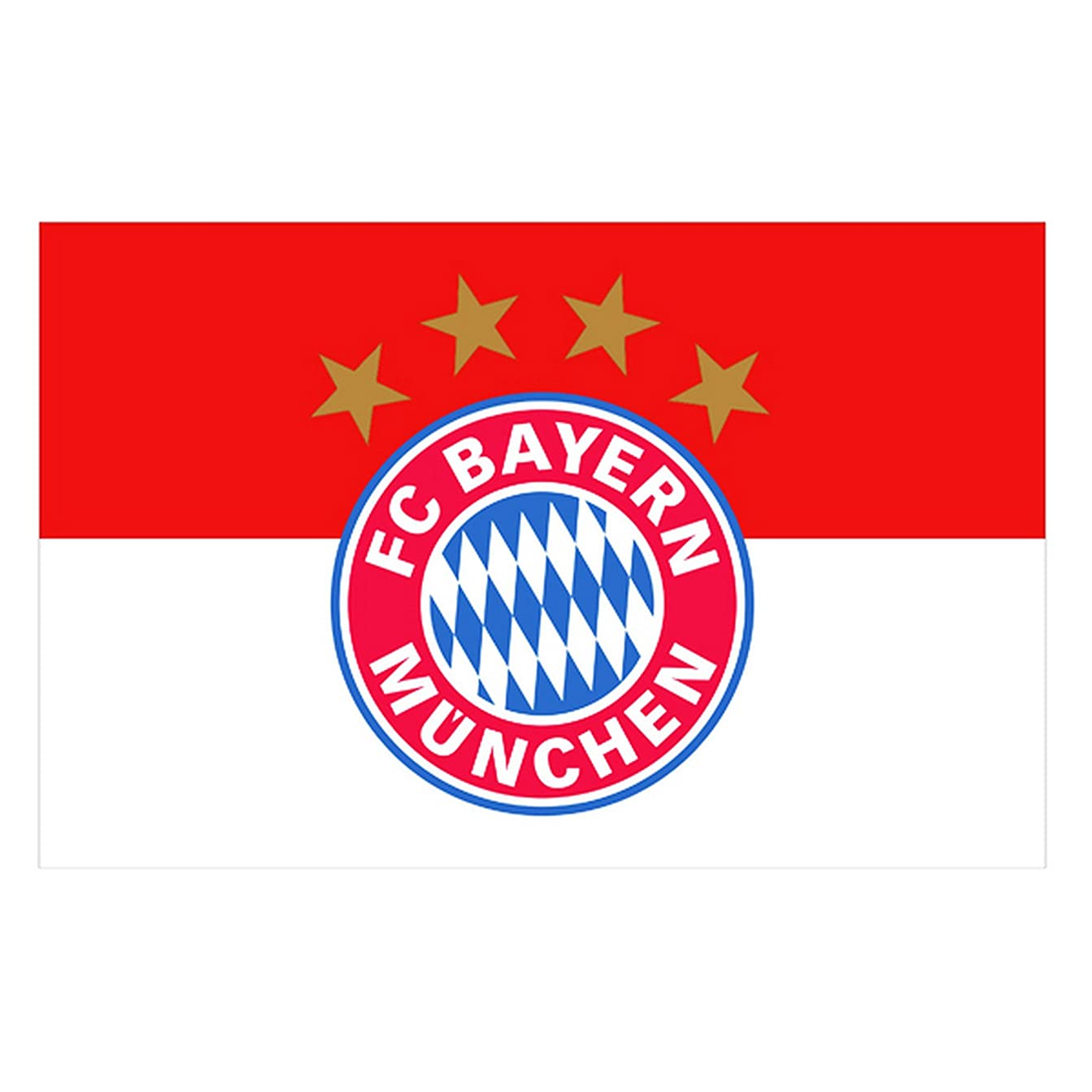 ずんぐりしたギャングスター含意Bayern Munchen バイエルンミュンヘン フラッグ / ペナント ポスター