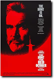 Mile High Media The Hunt for Red October Movie Poster 24x36 Inch Wall Art Portrait Print - Sean Connery