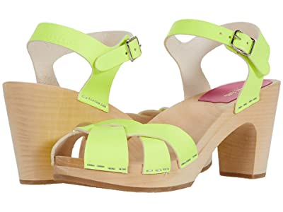 Swedish Hasbeens Kringlan (Neon Yellow) High Heels