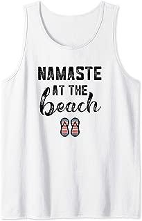 Namaste At The Beach Shirt Summer Vacation Sayings Yoga Tank Top