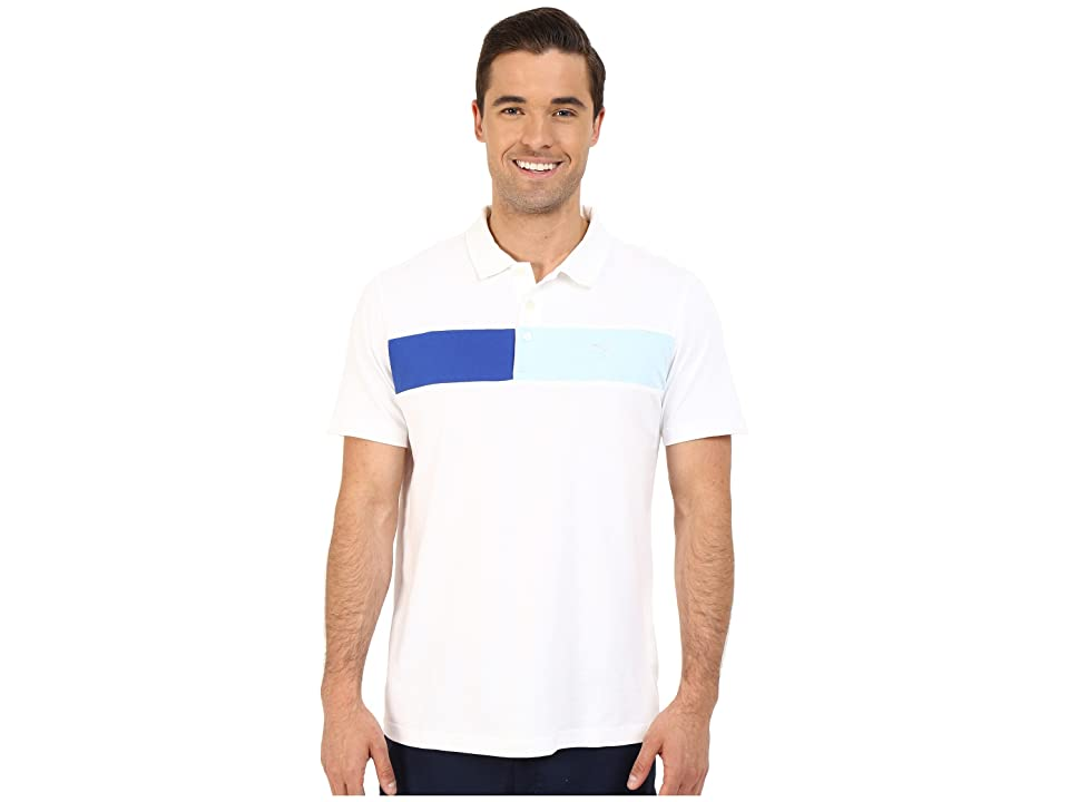 PUMA Golf Short Sleeve Cool Touch Polo (Bright White) Men