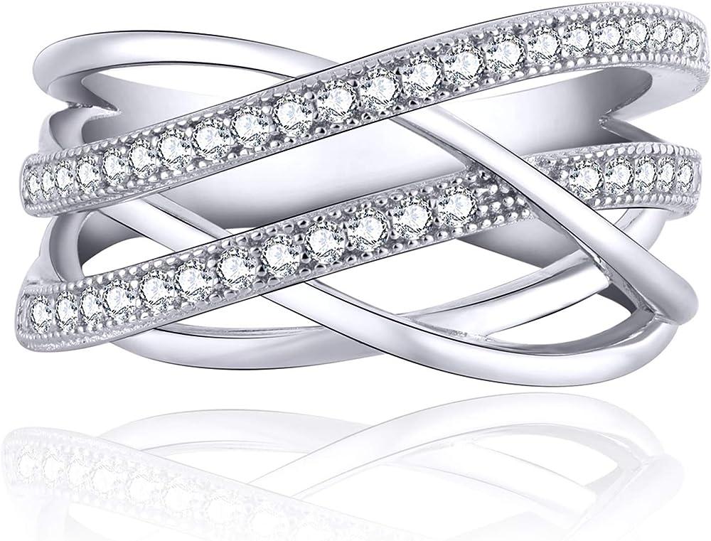 Jo wisdom anello in  argento 925 per donna con zirconia cubica YL78801A1-X