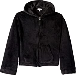 Super Soft Velour Hoodie Jacket (Big Kids)