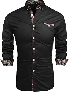 Men's Fashion Slim Fit Dress Shirt Casual Shirt