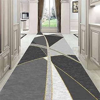 TONGQU Grand Tapis de Couloir, Moderne Motifs Géométriques Antidérapant Lavable Peut Être Coupé Tapis de Passage pour Salo...