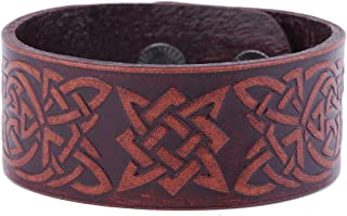 Star of Russia Slavic Amulet Talisman Irish Knot Leather Bracelet