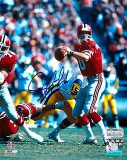 Steve Bartkowski Autographed/Signed Atlanta Falcons Throwback 8x10 NFL Photo - Red Jersey