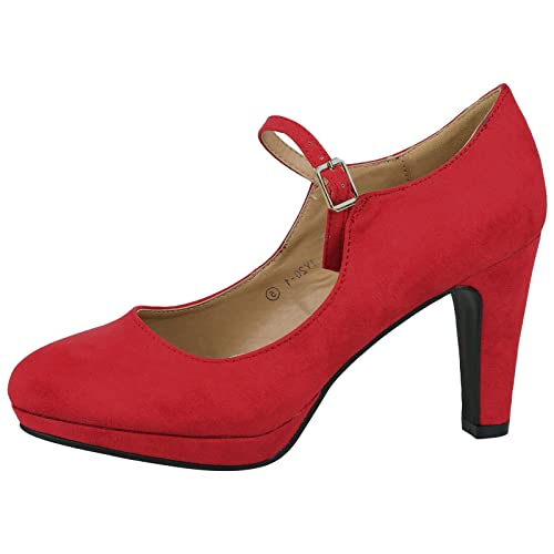 67a34416e20 ByPublicDemand Emmeline Womens High Heel Classic Mary Jane Shoes