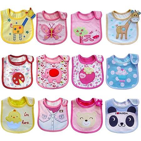 SLOSH 12 Baberos Impermeables Bebe Recien Nacido Niñas