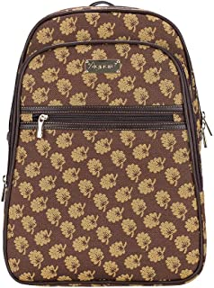 Signare Tapestry Stylish Rucksack Backpack Book Bag with Front Pocket in Jane Austen Design