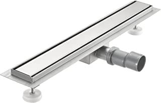 [neu.haus] Desagüe de ducha de acero inoxidable extremadamente plano 60 x 7cm – Para ducha a nivel del suelo con sifón - diseño moderno