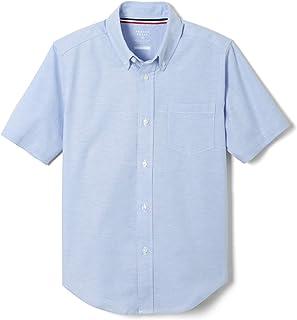French Toast Boy's Short Sleeve Oxford Dress Shirt (Standard & Husky) Button