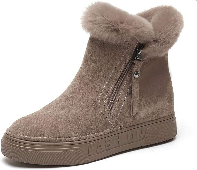 colorful Dream- Women's Winter Ankle Boots Zipper Plush Sneakers Women Casual Flat shoes Footwear