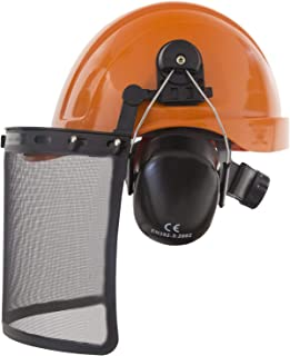 JORESTECH 3 in 1 Forestry Kit Hard Hat Safety Helmet and Hearing and Face Protection - Work Head Protective Wear with Removable Ear Muffs and Visor