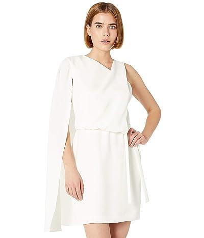 Halston Casey Asym Cape Dress