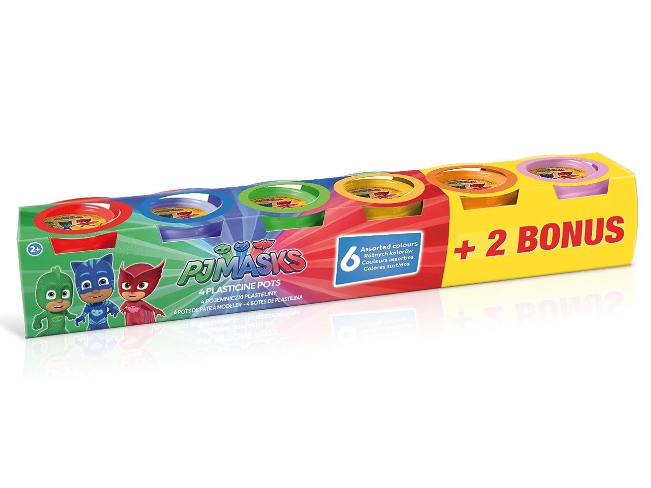 CANAL TOYS PJ Masks 4 Pots of Modelling Clay + 2 Bonus, PJC 004