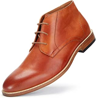 Desert Chukka Boots for Men - Men's Genuine Leather Shoes Dress Boots, Men Oxford Ankle Boots