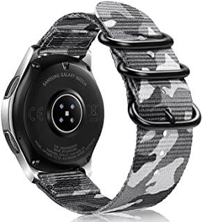 Bands for Galaxy Watch 46mm / Gear S3, Fintie Soft Woven Nylon 22mm Band Adjustable Sport Strap with Metal Buckle for Sams...