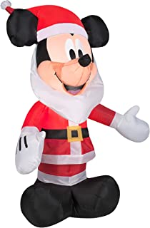 Gemmy Inflatables 3.5' Mickey Mouse with Santa Beard Disney Holiday Decor