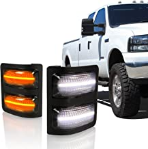 Optix Smoked LED Switchback Side Mirror Lights with Turn Signal Compatible with 2008-2016 Ford F-250