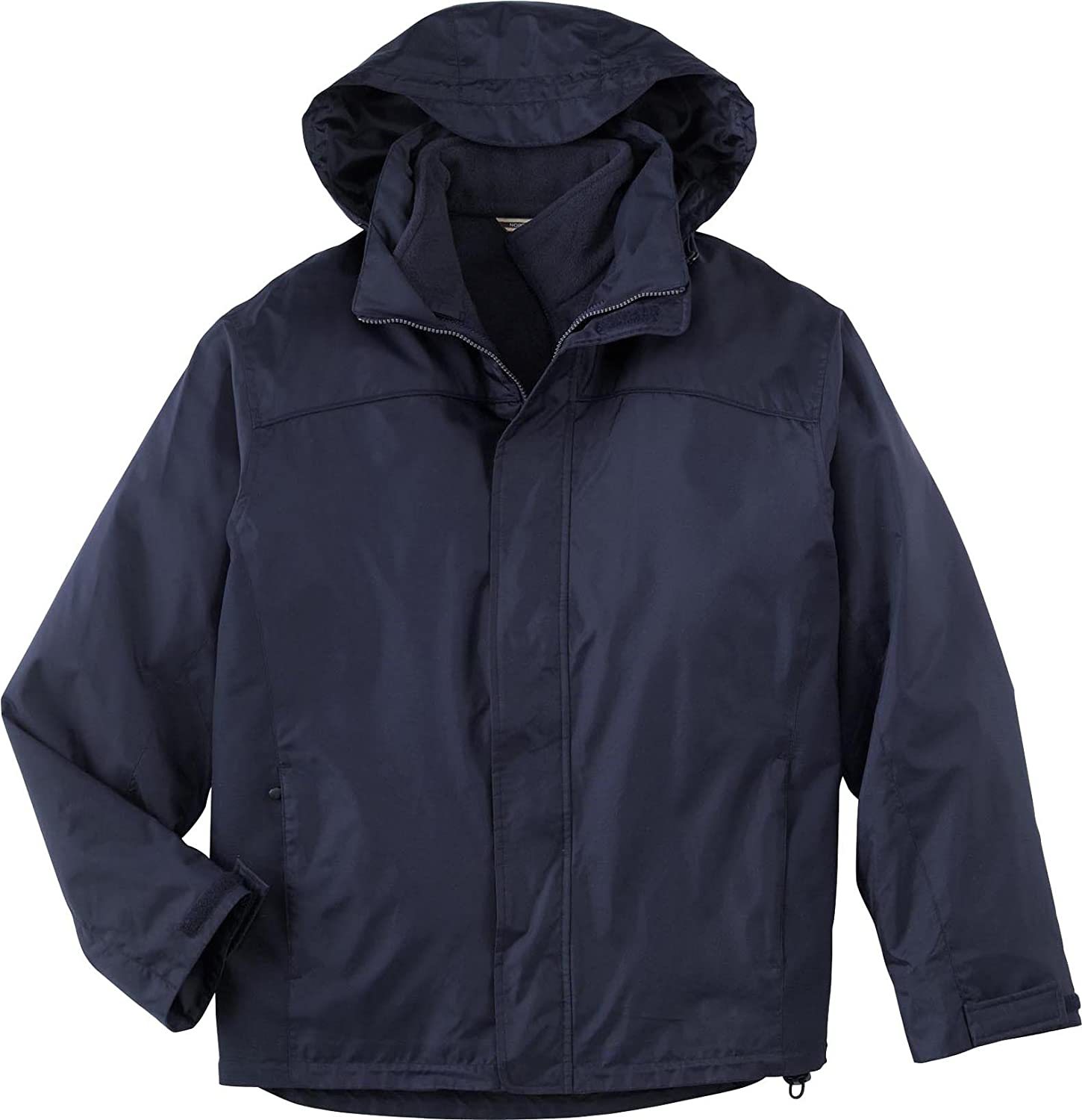 North End Mens 3-In-1 Jacket with Fleece Liner. 88130 - XXXX-Large - Midnight...