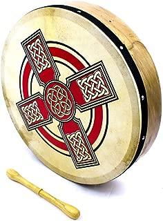 10 Pouces Irlandais Ga/élique Motif Celtique Bodhran /& Batteur Gratuit