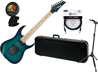 Ibanez RG752AHMNGB RG Prestige Nebula Green Burst 7-String Electric Guitar w/ Case, Locking Stand, Tuner, and Cable