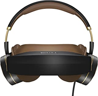 Royole Moon – 2D & 3D  Immersive Cinematic Mobile Personal Theater Headset, Dual 1080P FHD AMOLED Displays and Active Noise-Canceling Headphones for Premium Gaming and Movie Experience (Black)