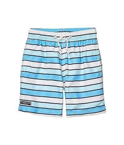 Toobydoo Grace Bay Aqua Classic Swim Shorts (Toddler/Little Kids/Big Kids) (Blue) Boy