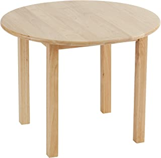 ECR4KidsDeluxe Hardwood Activity Play Table for Kids, Solid Wood Childrens Table for Playroom/Daycare/Preschool, 30 Inch Round, Natural Finish